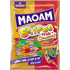 MAOAM Stripes Fruit caramel sachet 200g